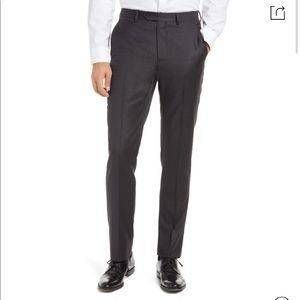 Santorelli Roma Flat Front Wool Dress Pants Size 42